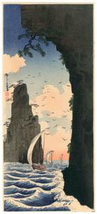 高橋松亭 – 越じ可半島 [こころにしみるなつかしい日本の風景 近代の浮世絵師・高橋松亭の世界より]のサムネイル画像