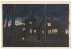 "thumbnail Takahashi Shōtei – Arai Inns, Ōmori, ""Eight Scenic Places in the South of Tokyo"" [from Shotei (Hiroaki) Takahashi: His Life and Works]"