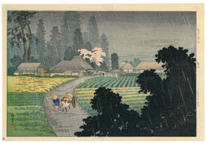 "thumbnail Takahashi Shōtei – Magome, ""Eight Scenic Places in the South of Tokyo"" [from Shotei (Hiroaki) Takahashi: His Life and Works]"