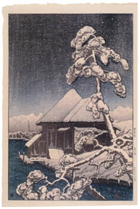 高橋松亭 – 雪月花 森ヶ崎 [こころにしみるなつかしい日本の風景 近代の浮世絵師・高橋松亭の世界より]のサムネイル画像