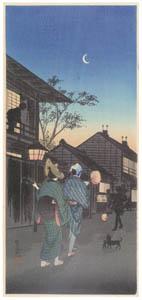 thumbnail Takahashi Shōtei – Shinagawa in the Night [from Shotei (Hiroaki) Takahashi: His Life and Works]