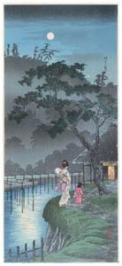 thumbnail Takahashi Shōtei – The Moon above Sekiguchi [from Shotei (Hiroaki) Takahashi: His Life and Works]