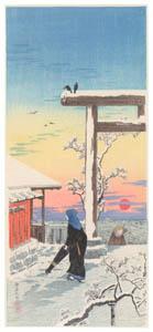 高橋松亭 – 湯島天神 [こころにしみるなつかしい日本の風景 近代の浮世絵師・高橋松亭の世界より]のサムネイル画像