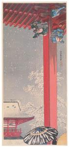 高橋松亭 – 浅草観音堂 [こころにしみるなつかしい日本の風景 近代の浮世絵師・高橋松亭の世界より]のサムネイル画像