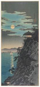 高橋松亭 – 石山之月 [こころにしみるなつかしい日本の風景 近代の浮世絵師・高橋松亭の世界より]のサムネイル画像