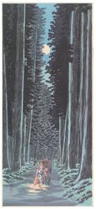 高橋松亭 – 日光杦並木 [こころにしみるなつかしい日本の風景 近代の浮世絵師・高橋松亭の世界より]のサムネイル画像