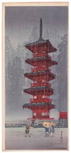 thumbnail Takahashi Shōtei – The Five-Storied Pagoda, Nikkō [from Shotei (Hiroaki) Takahashi: His Life and Works]