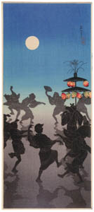 thumbnail Takahashi Shōtei – Bon Dance at the Feast of Lanterns (The Buddhist All Souls' Day) [from Shotei (Hiroaki) Takahashi: His Life and Works]
