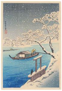 高橋松亭 – 寿美多の雪 [こころにしみるなつかしい日本の風景 近代の浮世絵師・高橋松亭の世界より]のサムネイル画像