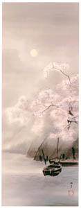 高橋松亭 – 無題(朧月夜の桜) [こころにしみるなつかしい日本の風景 近代の浮世絵師・高橋松亭の世界より]のサムネイル画像