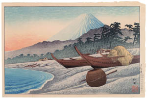 "thumbnail Takahashi Shōtei – Senbonhama Beach, ""Mt. Fuji through Four Seasons"" [from Shotei (Hiroaki) Takahashi: His Life and Works]"