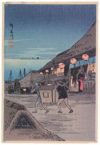 高橋松亭 – 神奈川 [こころにしみるなつかしい日本の風景 近代の浮世絵師・高橋松亭の世界より]のサムネイル画像