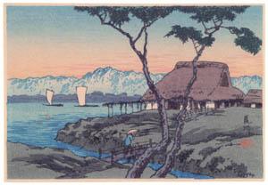 高橋松亭 – 荒川 [こころにしみるなつかしい日本の風景 近代の浮世絵師・高橋松亭の世界より]のサムネイル画像