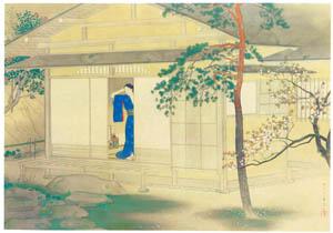 松岡映丘 – 花のあした [松岡映丘展:没後40年記念より]のサムネイル画像