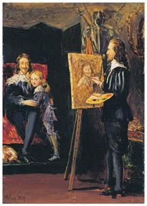 ジョン・エヴァレット・ミレイ – ヴァン・ダイクの工房にいるチャールズ一世とその息子 [ジョン・エヴァレット・ミレイ展より]のサムネイル画像