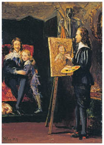 thumbnail John Everett Millais – Charles I and his Son in the Studio of Van Dyck [from John Everett Millais Exhibition Catalogue 2008]