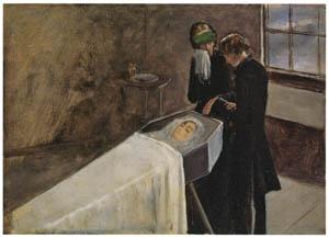 thumbnail John Everett Millais – The Artist Attending the Mourning of a Young Girl [from John Everett Millais Exhibition Catalogue 2008]