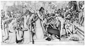 ジョン・エヴァレット・ミレイ – マティルダ女王の墓の掘り出し [ジョン・エヴァレット・ミレイ展より]のサムネイル画像