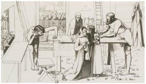 ジョン・エヴァレット・ミレイ – 《両親の家のキリスト》の習作 [ジョン・エヴァレット・ミレイ展より]のサムネイル画像