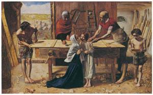 ジョン・エヴァレット・ミレイ – 両親の家のキリスト(大工の仕事場) [ジョン・エヴァレット・ミレイ展より]のサムネイル画像