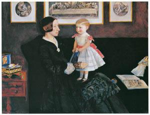 thumbnail John Everett Millais – Mrs James Wyatt Jr and her Daughter Sarah [from John Everett Millais Exhibition Catalogue 2008]