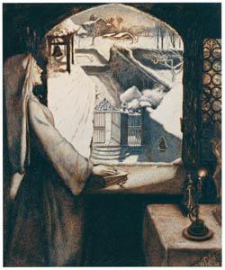 ジョン・エヴァレット・ミレイ – 聖アグネス祭前夜 [ジョン・エヴァレット・ミレイ展より]のサムネイル画像