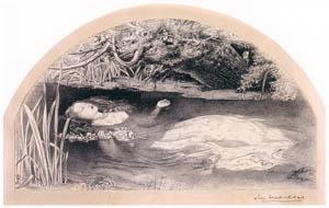 ジョン・エヴァレット・ミレイ – 《オフィーリア》のための習作 [ジョン・エヴァレット・ミレイ展より]のサムネイル画像
