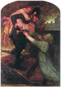 thumbnail John Everett Millais – The Rescue [from John Everett Millais Exhibition Catalogue 2008]