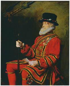 ジョン・エヴァレット・ミレイ – 国王衛士 [ジョン・エヴァレット・ミレイ展より]のサムネイル画像
