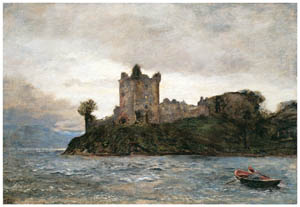 ジョン・エヴァレット・ミレイ – 「吹きすさぶ風に立ちはだかる力の塔」 (テニスンの詩) [ジョン・エヴァレット・ミレイ展より]のサムネイル画像