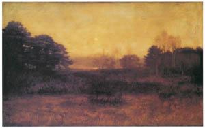 ジョン・エヴァレット・ミレイ – 「月、まさにのぼりぬ、されどいまだ夜ならず」 (バイロンの詩) [ジョン・エヴァレット・ミレイ展より]のサムネイル画像