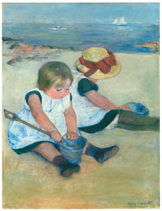 thumbnail Mary Cassatt – Children Playing on the Beach [from Mary Cassatt Retrospective]