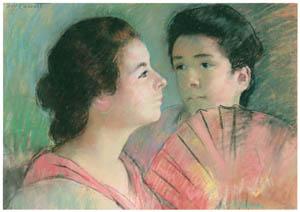 thumbnail Mary Cassatt – Two Sisters [from Mary Cassatt Retrospective]