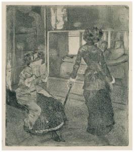 thumbnail Edgar Degas – Mary Cassatt at the Louvre: Museum of Antiquity [from Mary Cassatt Retrospective]