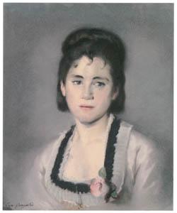 thumbnail Eva Gonzalès – Portrait of the artist's sister, Jeanne Gonzalès [from Mary Cassatt Retrospective]