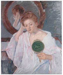 thumbnail Mary Cassatt – Denise at Her Dressing Table [from Mary Cassatt Retrospective]
