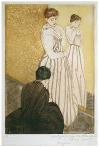 thumbnail Mary Cassatt – The Fitting [from Mary Cassatt Retrospective]
