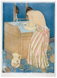 thumbnail Mary Cassatt – Woman Bathing [from Mary Cassatt Retrospective]