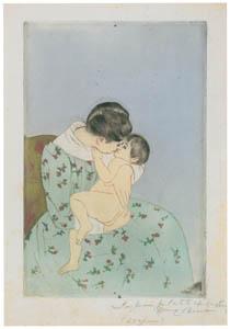 メアリー・カサット – 母のキス [メアリー・カサット展 図録より]のサムネイル画像
