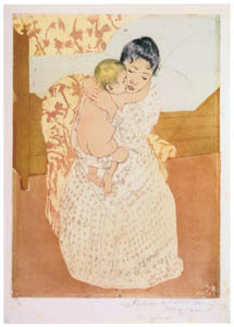 thumbnail Mary Cassatt – Maternal Caress [from Mary Cassatt Retrospective]