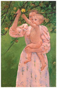 メアリー・カサット – 果実をとろうとする子ども [メアリー・カサット展 図録より]のサムネイル画像
