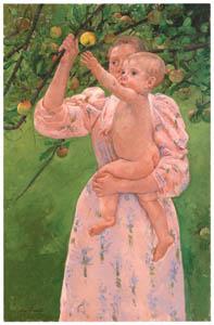 thumbnail Mary Cassatt – A Child Picking a Fruit [from Mary Cassatt Retrospective]