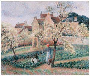 カミーユ・ピサロ – 花咲くプラムの木 [メアリー・カサット展 図録より]のサムネイル画像