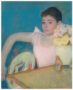thumbnail Mary Cassatt – Girl in Pink with a Fan [from Mary Cassatt Retrospective]