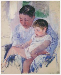 メアリー・カサット – ジェニーと眠そうな子ども [メアリー・カサット展 図録より]のサムネイル画像