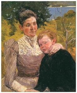 thumbnail Mary Cassatt – Jenny Cassatt with Her Son, Gardner [from Mary Cassatt Retrospective]