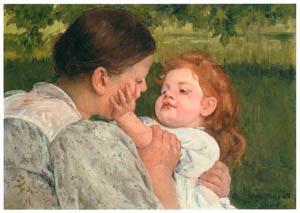 メアリー・カサット – 母の愛撫 [メアリー・カサット展 図録より]のサムネイル画像