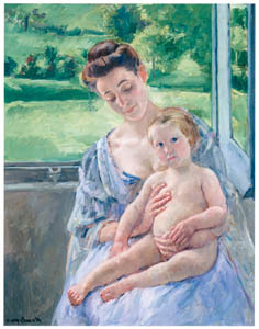 メアリー・カサット – 温室にいる子どもと母親 [メアリー・カサット展 図録より]のサムネイル画像