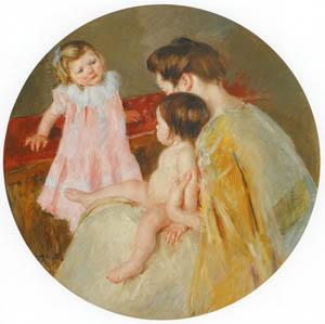 メアリー・カサット – 母親とふたりの子ども [メアリー・カサット展 図録より]のサムネイル画像