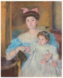 メアリー・カサット – モレル・ダルルー伯爵夫人と息子 [メアリー・カサット展 図録より]のサムネイル画像